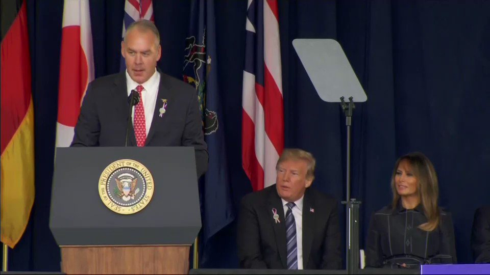 President Donald Trump is at Shanksville, Pennsylvania giving remarks on the 17th anniversary of 9/11. https://t.co/8cPUGsuei4
