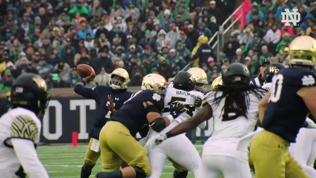 #TBT to some of the top moments from our 48-37 victory over Wake Forest in 2017. #GoIrish ☘️ #BeatDeacs