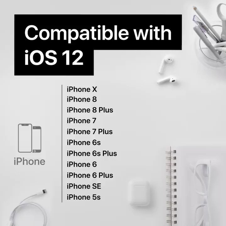 Whether you have an iPhone X or an iPhone 5s, you can update to #iOS12 on Monday, September 17.  See which other devices are compatible, right here. 👇👇👇