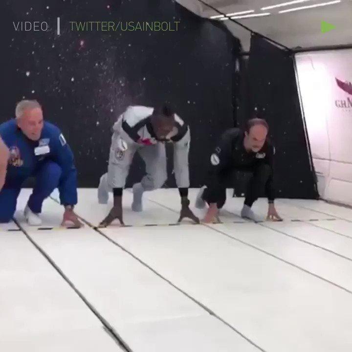 Usain Bolt running in zero gravity https://t.co/hbHmXv4eP0