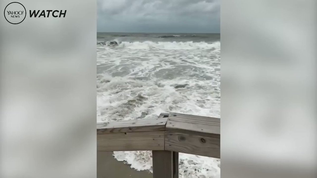 Hurricane Florence makes its presence known on the East Coast https://yhoo.it/2N8uIbE