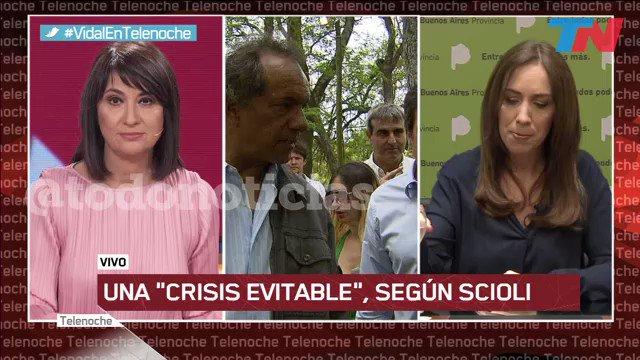 """Scioli dijo que la """"crisis era evitable"""" y Vidal le respondió: """"Quien no pudo evitar que la Provincia quedara sin poder pagar aguinaldos y sueldos en 2015, quien no pudo darle un chaleco a cada policía, quien dejó obras paralizadas, debería llamarse a un respetuoso silencio"""""""