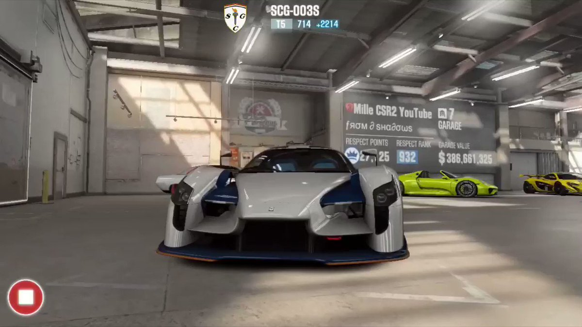 Take a peek inside the garage of @MilleCSR2, one of the best CSR Racing 2 players in the world 🏎