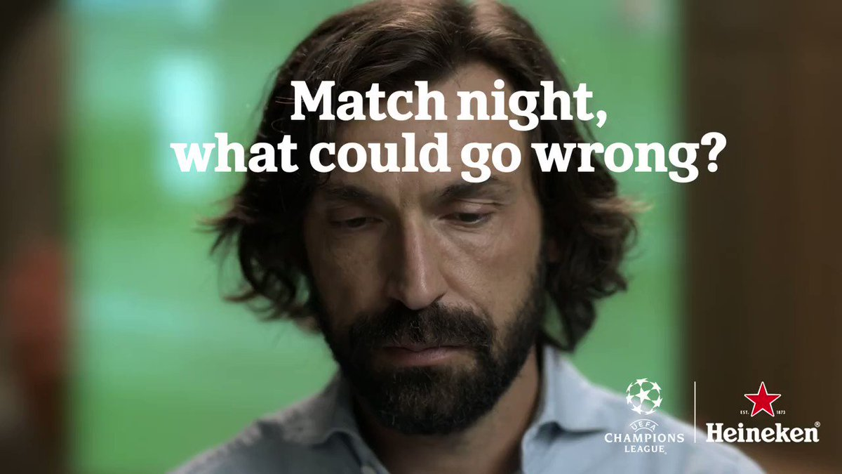 Every match has unmissable moments. Don't even blink @Pirlo_official. #thatsHeineken #UCL https://t.co/V7q4VTcl7N