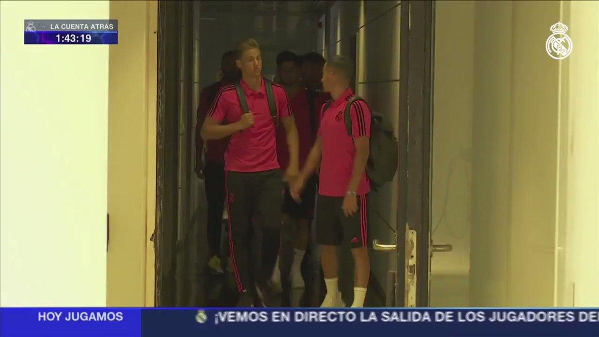 ��♂�� ¡Los jugadores ya se dirigen al Bernabéu! #RMUCL https://t.co/KCJSYG1ZIG