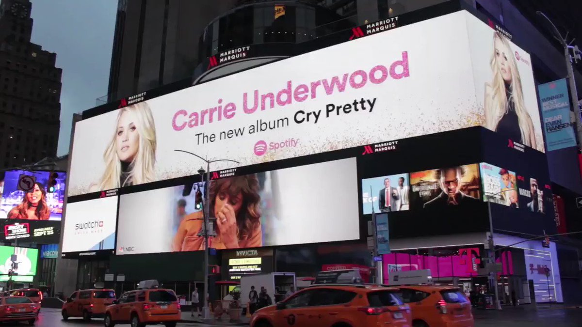 Thank you @Spotify for supporting #CryPretty with these billboards all around the world! https://t.co/yAe9gUfEHH https://t.co/C66R85KISc
