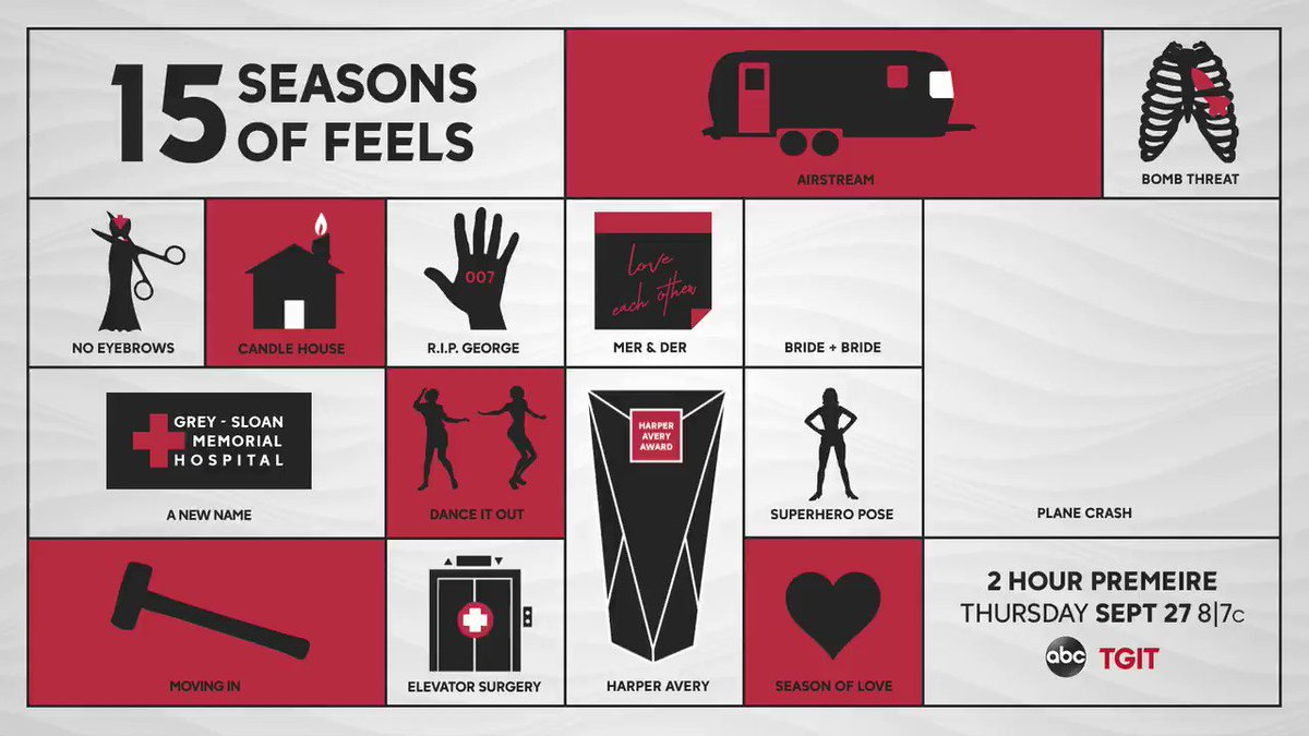 Do you remember all 14 of these ICONic moments?? #GreysAnatomy