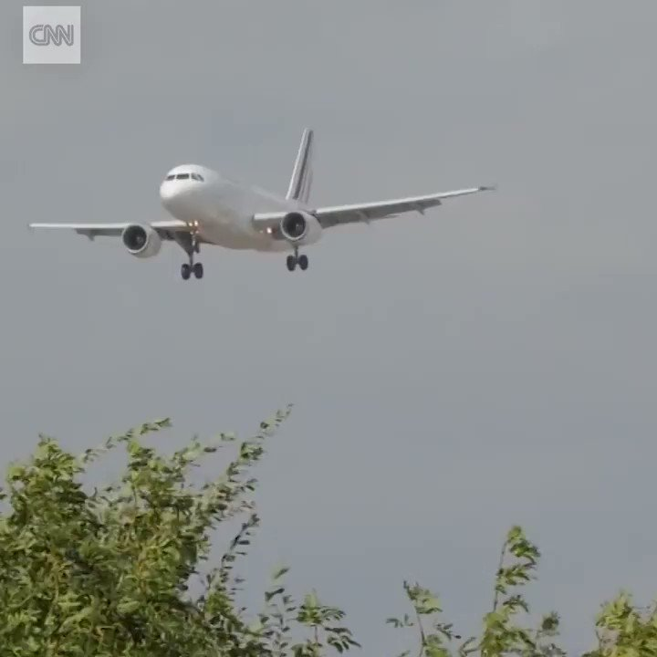 Ferocious winds caused this flight to abort a landing at Birmingham Airport in England, turning the plane sideways and keeping it airborne only feet above the ground. The plane successfully landed 15 minutes later. cnn.it/2xBaxtg
