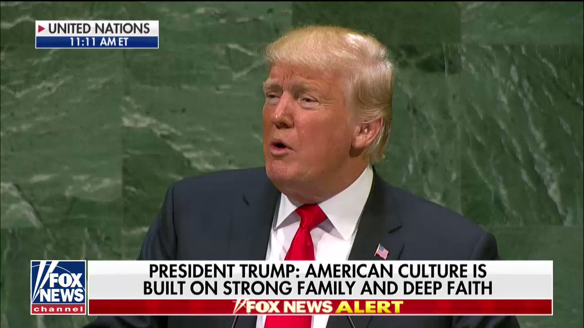 """.@POTUS: """"We must protect our sovereignty and our cherished independence above all."""" #UNGA https://t.co/w5Xunt7Qgs"""