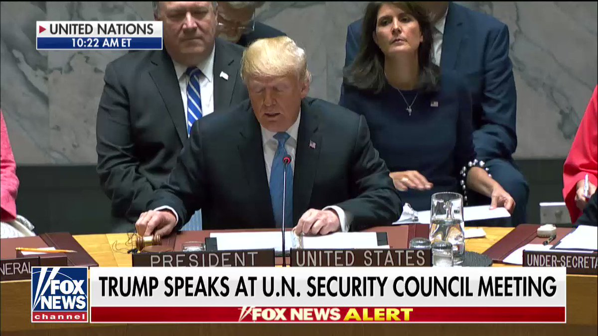 """.@POTUS: """"I am honored to be here today to chair this meeting of the United Nations Security Council."""" https://t.co/bucjutkR3A"""