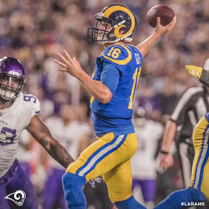 1,406 yards. 11 touchdowns. 123.7 rating. The NFC Offensive Player of the Month, @JaredGoff16 🔥