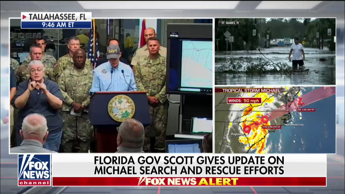 """.@FLGovScott: """"If it is not safe to leave your house, don't leave it, don't take a chance."""" fxn.ws/2NFc076"""