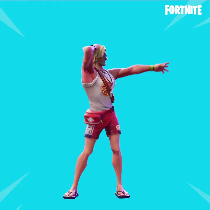 Spray away the competition. The new Sprinkler Emote is available now!