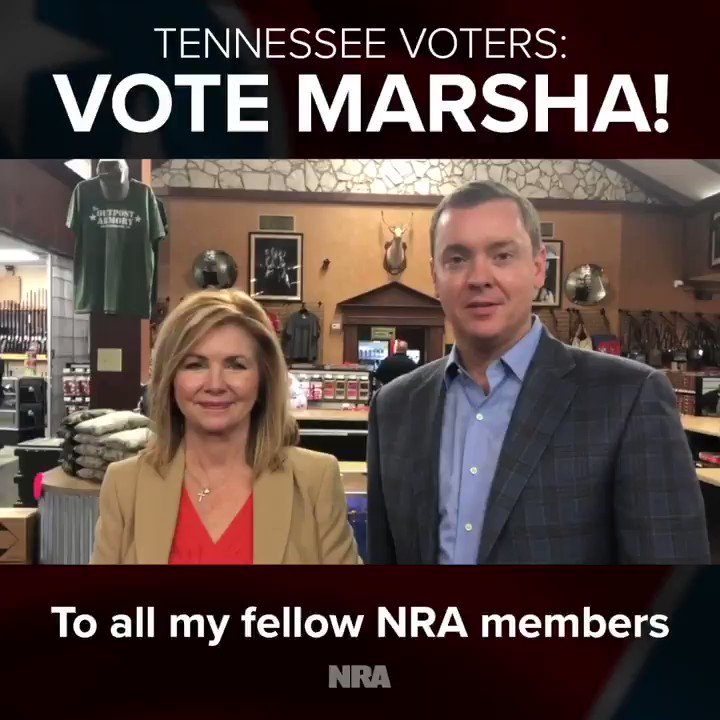 .@ChrisCoxNRA was back in his home state of #Tennessee supporting @VoteMarsha! Marsha earned an A rating from @NRAPVF and is a true champion of defending the Second Amendment. @PhilBredesen, on the other hand, has earned a D rating and is a dangerous choice for #Tennesseans.