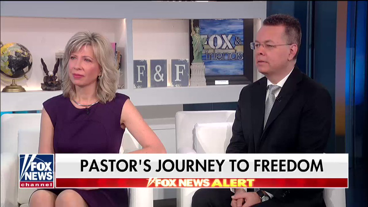 WATCH the full interview with Pastor Andrew Brunson and his wife, Norine, on @foxandfriends https://t.co/SCwlccRjOg
