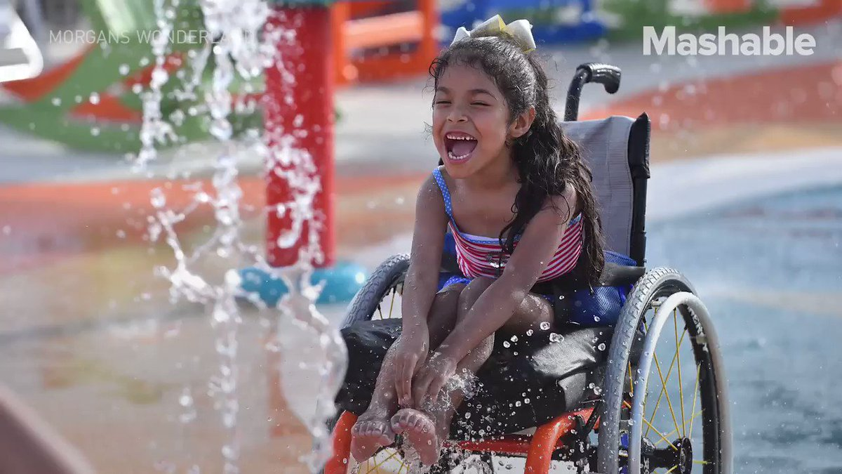 This waterpark was designed for people with disabilities