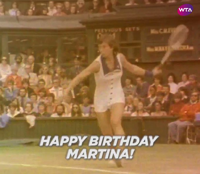 Time to celebrate a true Legend!  Happy birthday Navratilova!