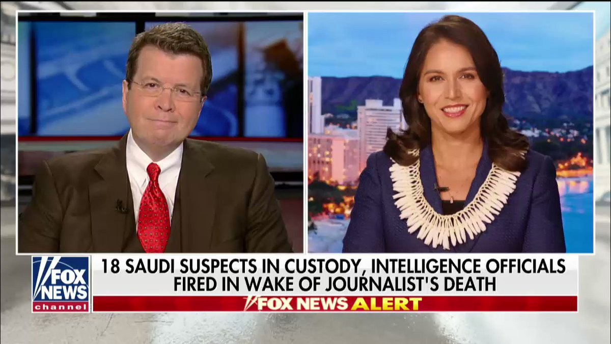""".@TulsiGabbard: """"We should end our alliance with Saudi Arabia."""" https://t.co/cN543lUTCC"""