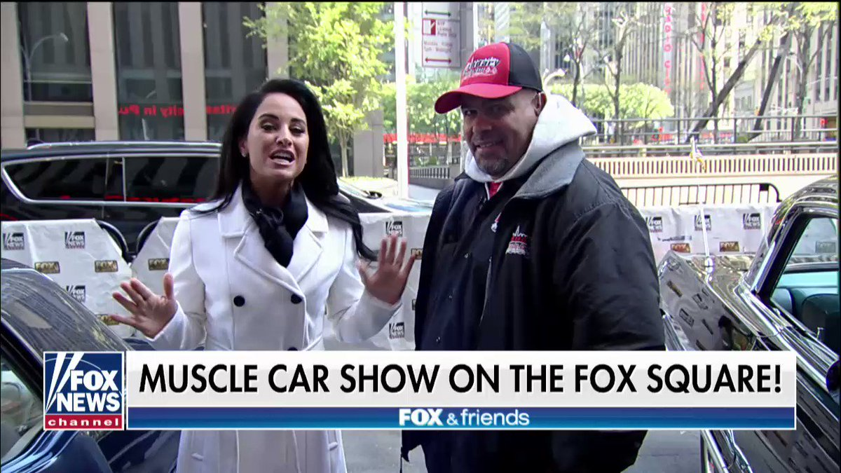 Muscle car show on the Fox square! @foxandfriends https://t.co/aXY3JzJjwY