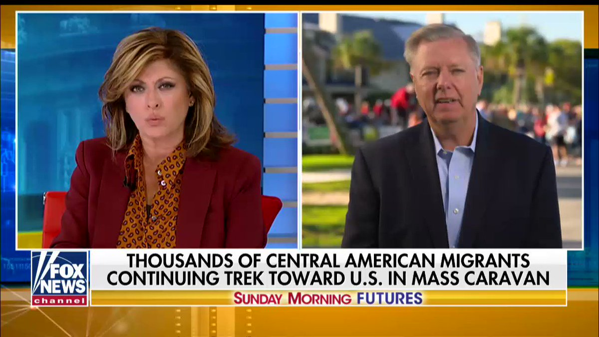 ".@LindseyGrahamSC: ""These caravans need to be stopped in Mexico."" #SundayFutures @MariaBartiromo https://t.co/hLnt3XiywT"