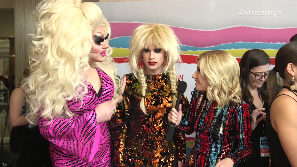 .@trixiemattel & @katyazamo only came to the #streamys for @CharoCuchiCuchi. I mean, same.