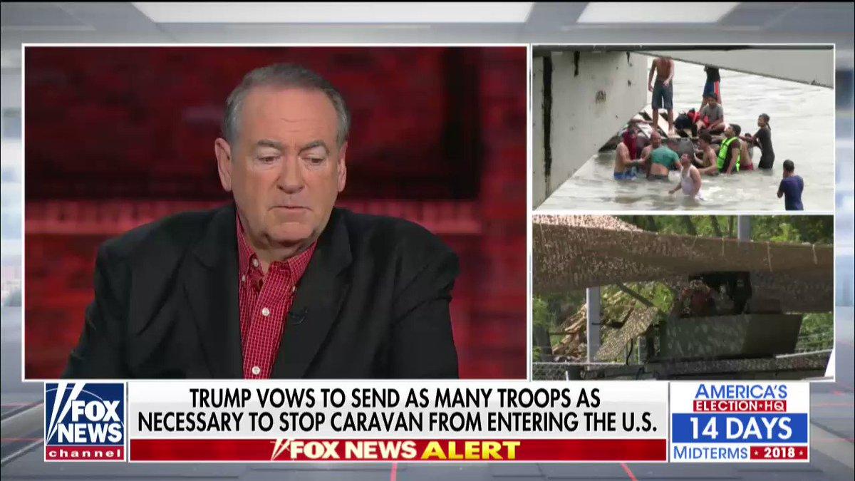 .@GovMikeHuckabee on migrant caravan @AmericaNewsroom https://t.co/K9RTa4pWfO https://t.co/yhAtJuZRgw