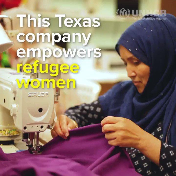 Image for the Tweet beginning: Stitch by stitch, refugee women
