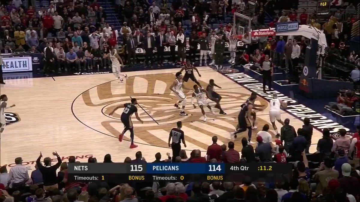 WYD Nets?  …Jrue ices the game for the Pelicans