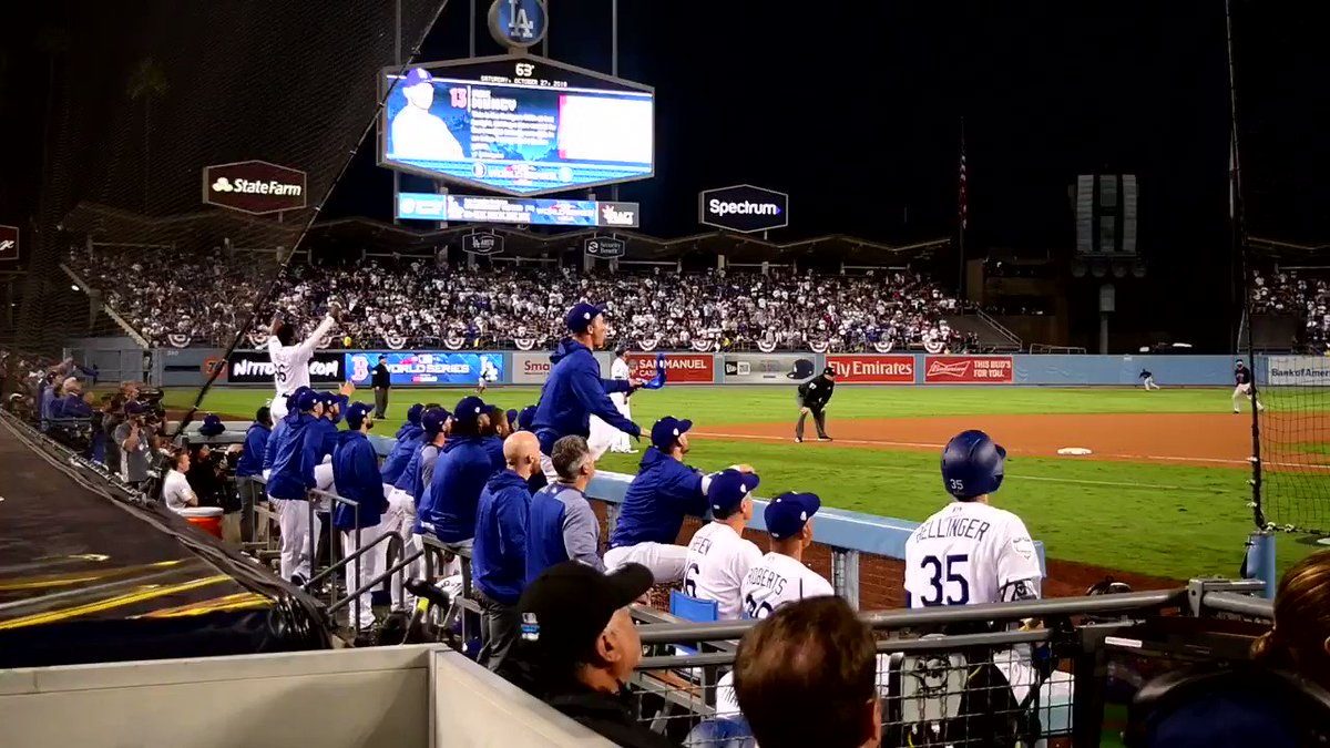 Watch the Dodgers react to walk-off in stunning field-level video