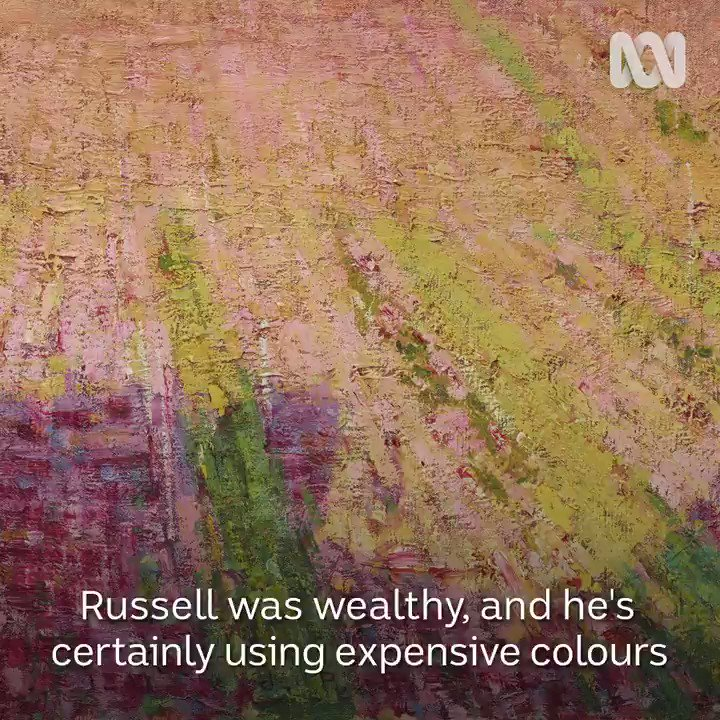 Australian impressionist John Russell painted with a stunning shade of red that was created by boiling and crushing the roots of a plant.  Watch Australia's Lost Impressionist tonight at 9.30 on @ABCTV.