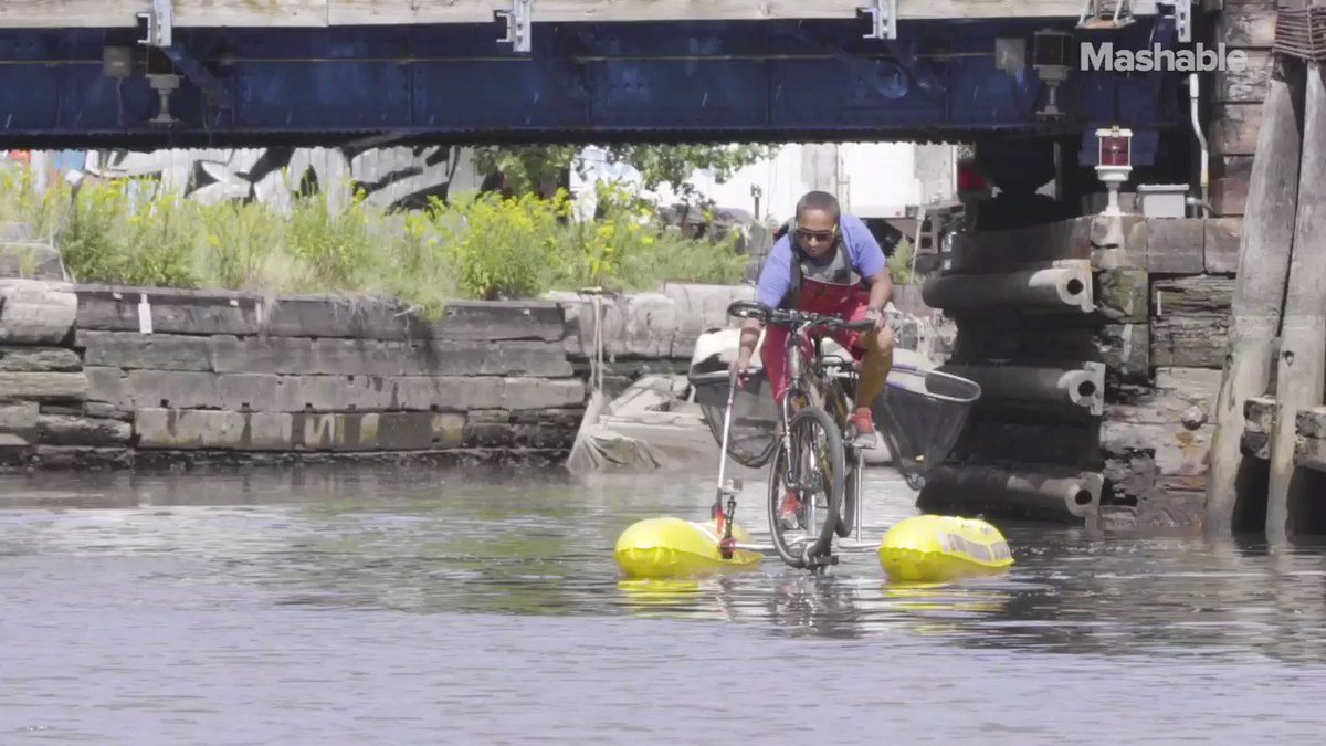 This man is biking on water to save the planet