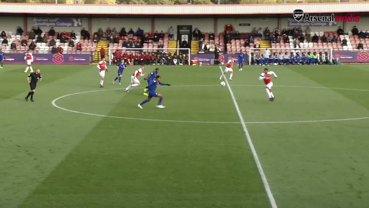 Here's how Bukayo Saka opened the scoring for #AFCU23 against Chelsea this afternoon 👏