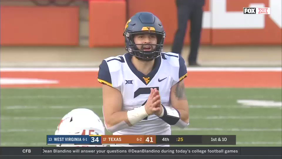 This throw might lock up Will Grier's ticket to the Heisman ceremony 🔥🔥