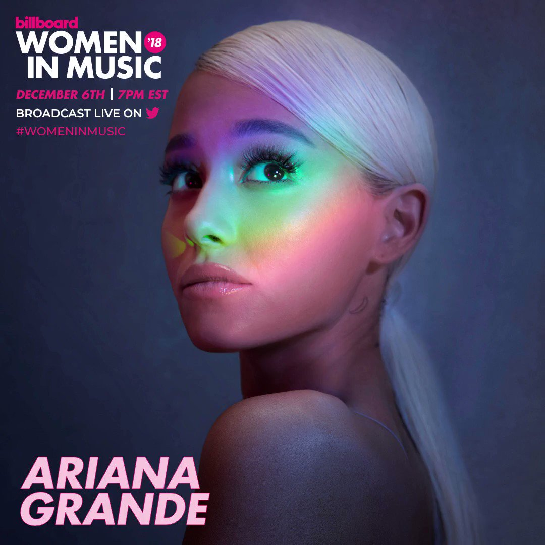 Our Woman of the Year, @ArianaGrande!  #WomenInMusic https://t.co/XYi5B4Pc8y