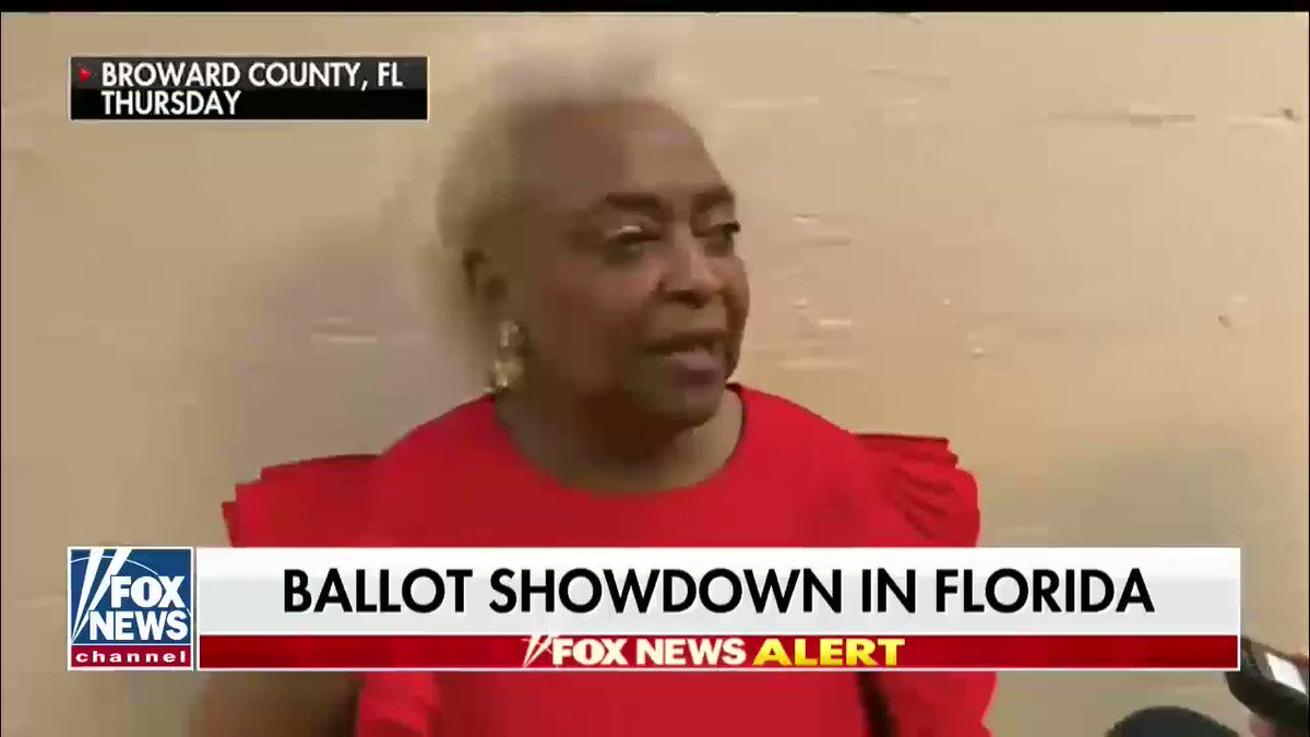 Brenda Snipes, the Broward County Supervisor of Elections, dodges questions about the updated votes