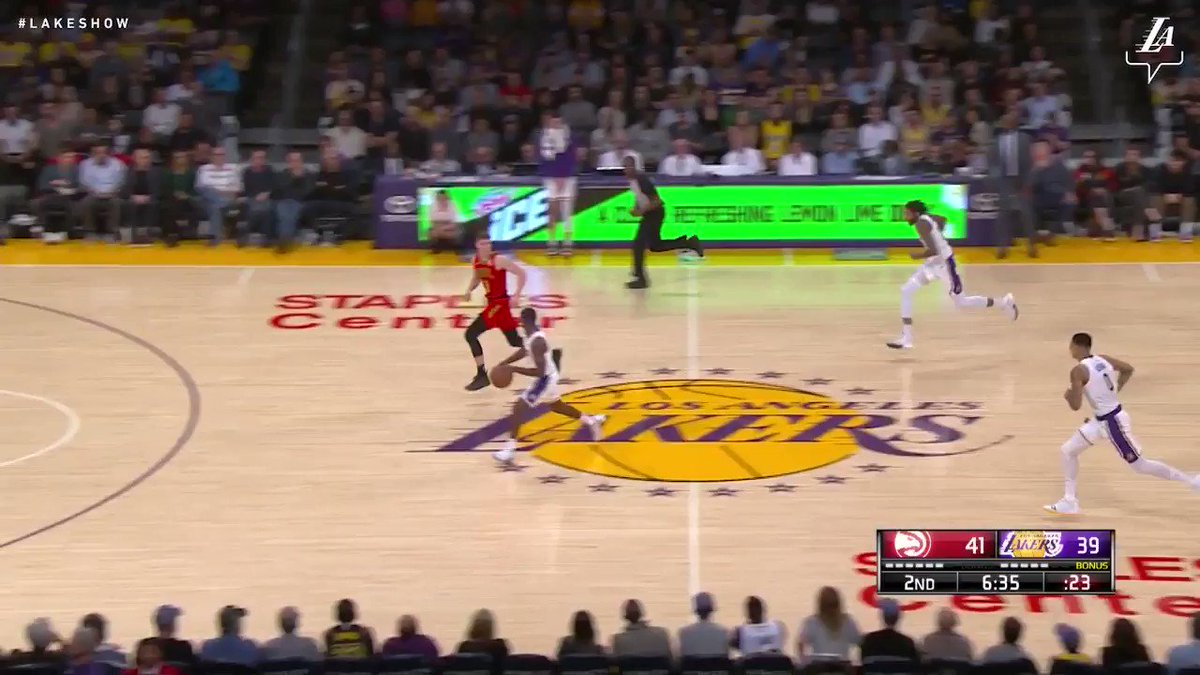 WATCH: LeBron James finishes circus fast break
