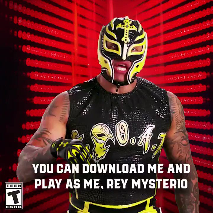 Play as @reymysterio in #WWE2K19 with his DLC combo pack with @RondaRousey! 2kgam.es/2zdSWZh