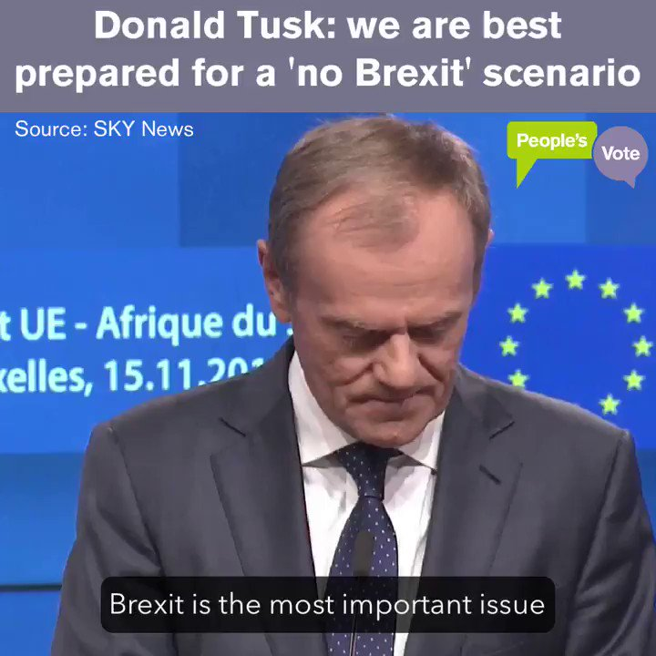 WATCH: the EU Council President confirms we don't have to buy this humiliating deal, or crash out: we'd be welcome to stay.  The real choice now is between a deal that nobody likes & the one we already have. Demand a #PeoplesVote: http://notbuyingit.uk