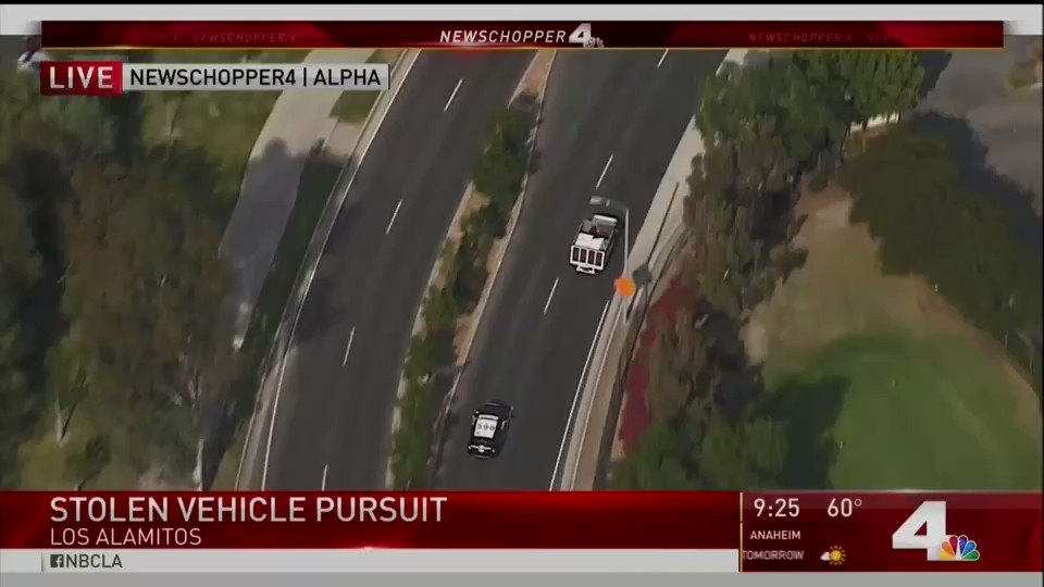 The play-by-play of this Los Angeles police chase/crash is wildly entertaining