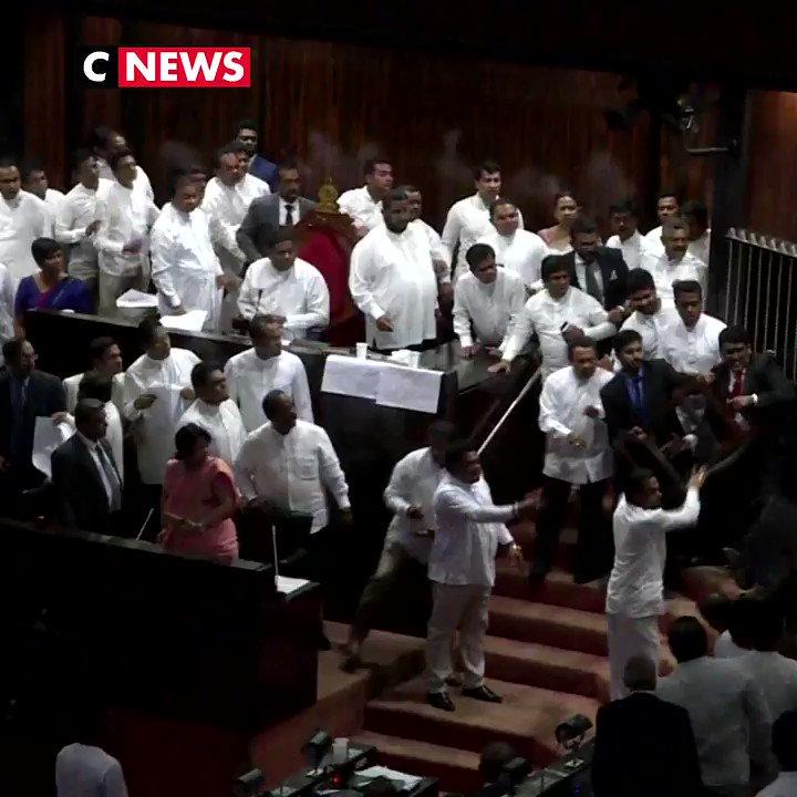 Bagarre au Parlement du Sri Lanka