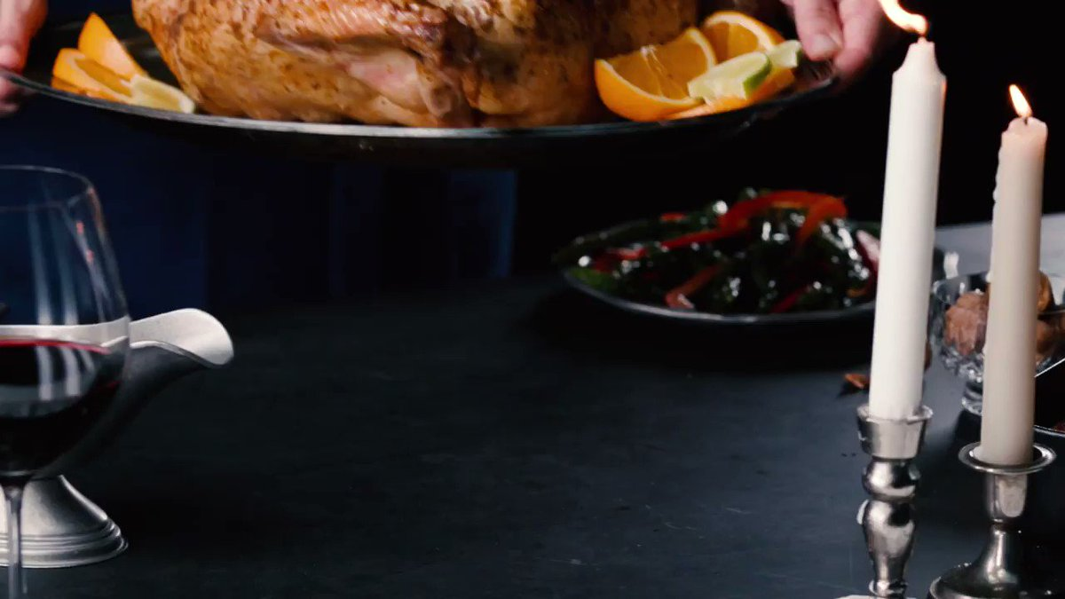 Image for the Tweet beginning: This citrus-marinated turkey is extra-juicy
