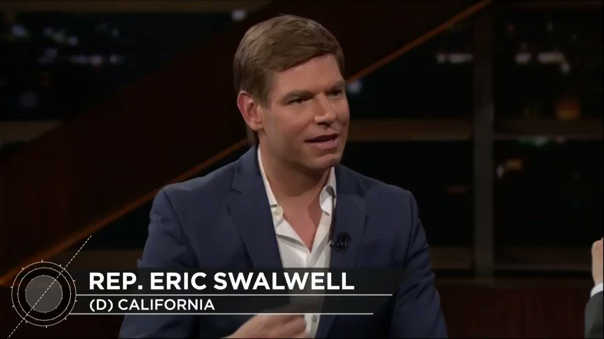 "The Speaker of the House ""has to be the most qualified person, and she is the best leader we have."" – @EricSwalwell (@RepSwalwell) on @NancyPelosi #RealTime"