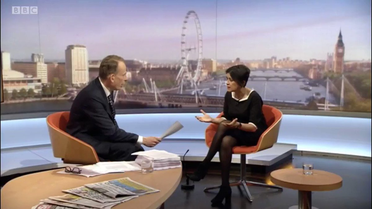 Andrew Marr doesnt speak to Theresa May or Nigel Farage or Marine Le Pen like this. Its really unprofessional.