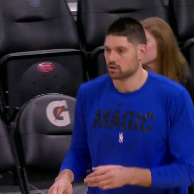 Week 5 Eastern Conference Player of the Week Nikola Vucevic takes the floor ahead of tip on #NBA League Pass! #PureMagic  📺: 7pm/et vs. Raptors