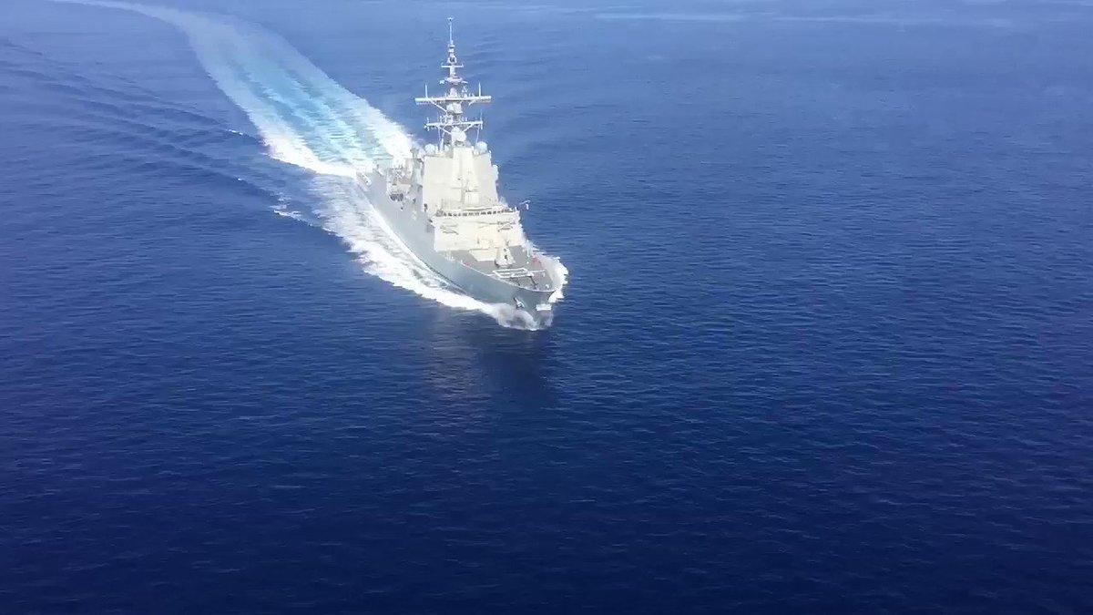 ¿Quieres ver cómo actuamos ante un buque sospechoso? La fragata #CristóbalColón nos deja la secuencia completa de un ejercicio con su trozo de visita y registro.