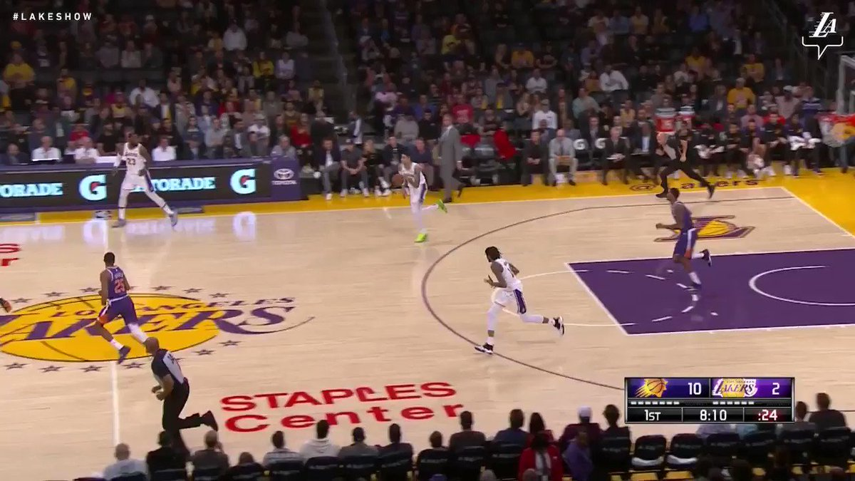 🎥 LeBron James dropped 22 points, 6 rebounds, and 8 assists today against the Suns #LakersWin