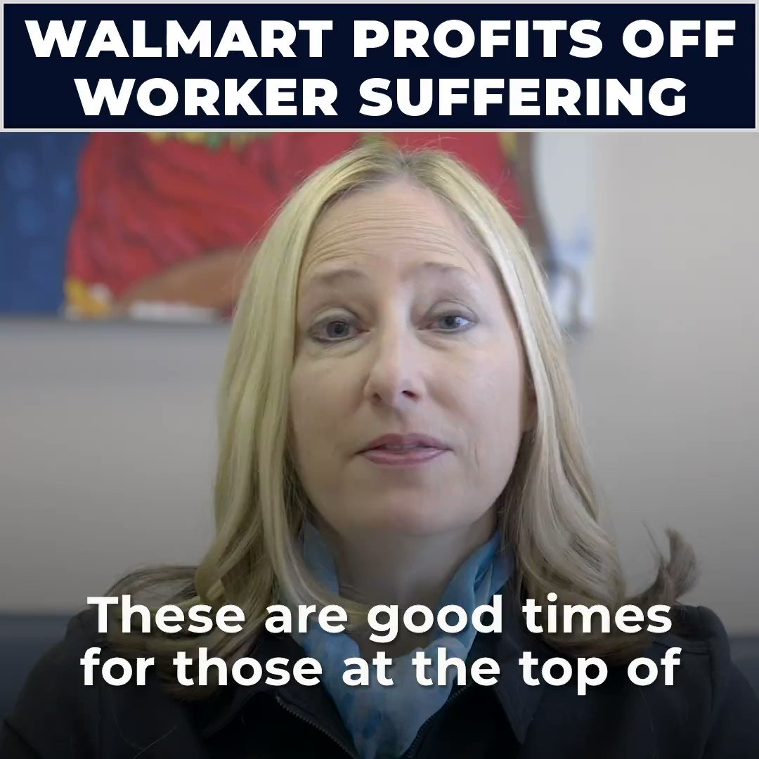 Walmart is the poster child of corporate greed in America today. We must demand that they pay a living wage. https://t.co/CUx9fup7lw