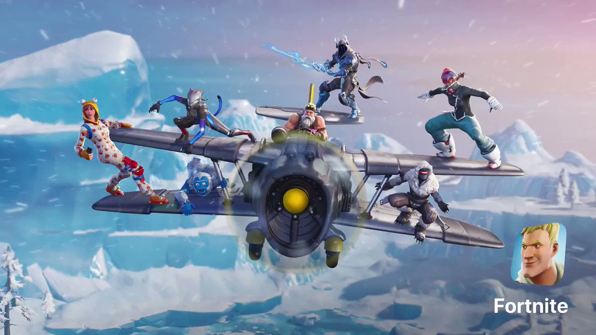 Sgt. Winter, Onesie, and a Stormwing? One word: awesome! Play @FortniteGame Season 7 now ❄️ apple.co/FortniteSeason7