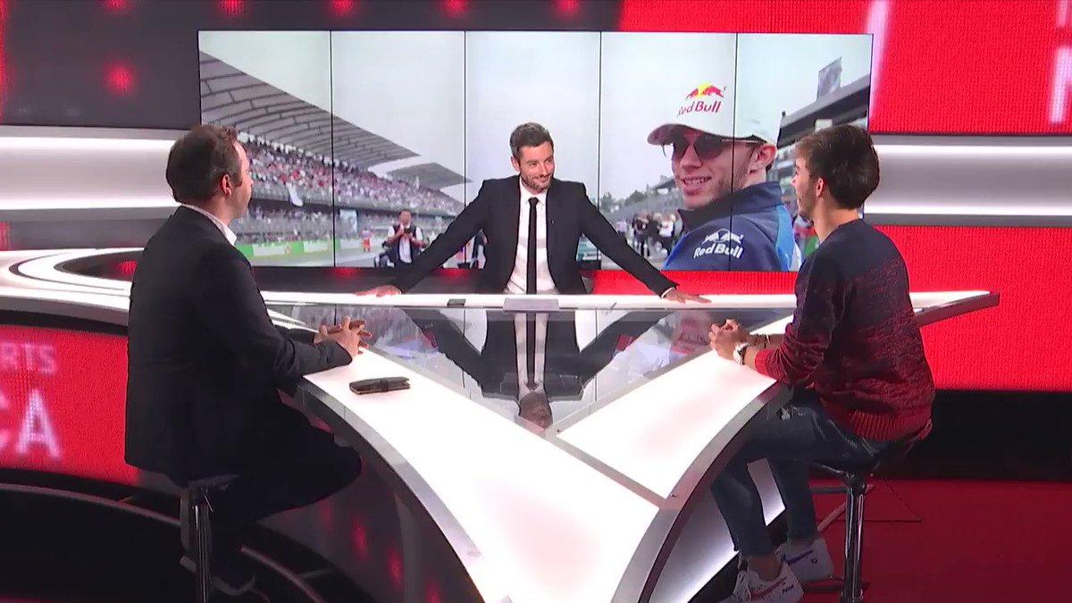 . @PierreGASLY était l'invité d'Info Sports Méca avec @Julien_FEBREAU et @JDeremble sur @infosportplus ce soir.  Ses premiers pas chez Red Bull 🔽