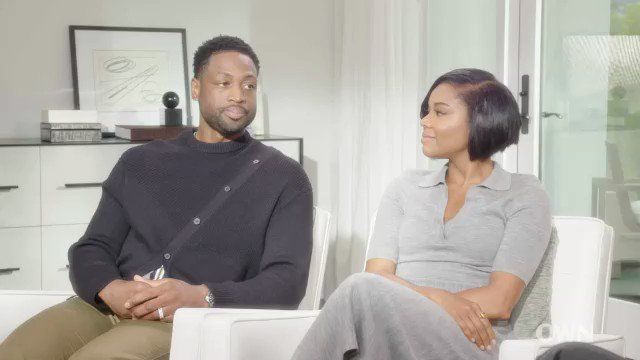 Image for the Tweet beginning: .@ItsGabrielleU and @DwyaneWade dispel many